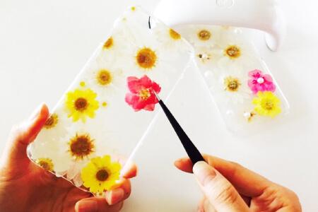 レジン花の作品
