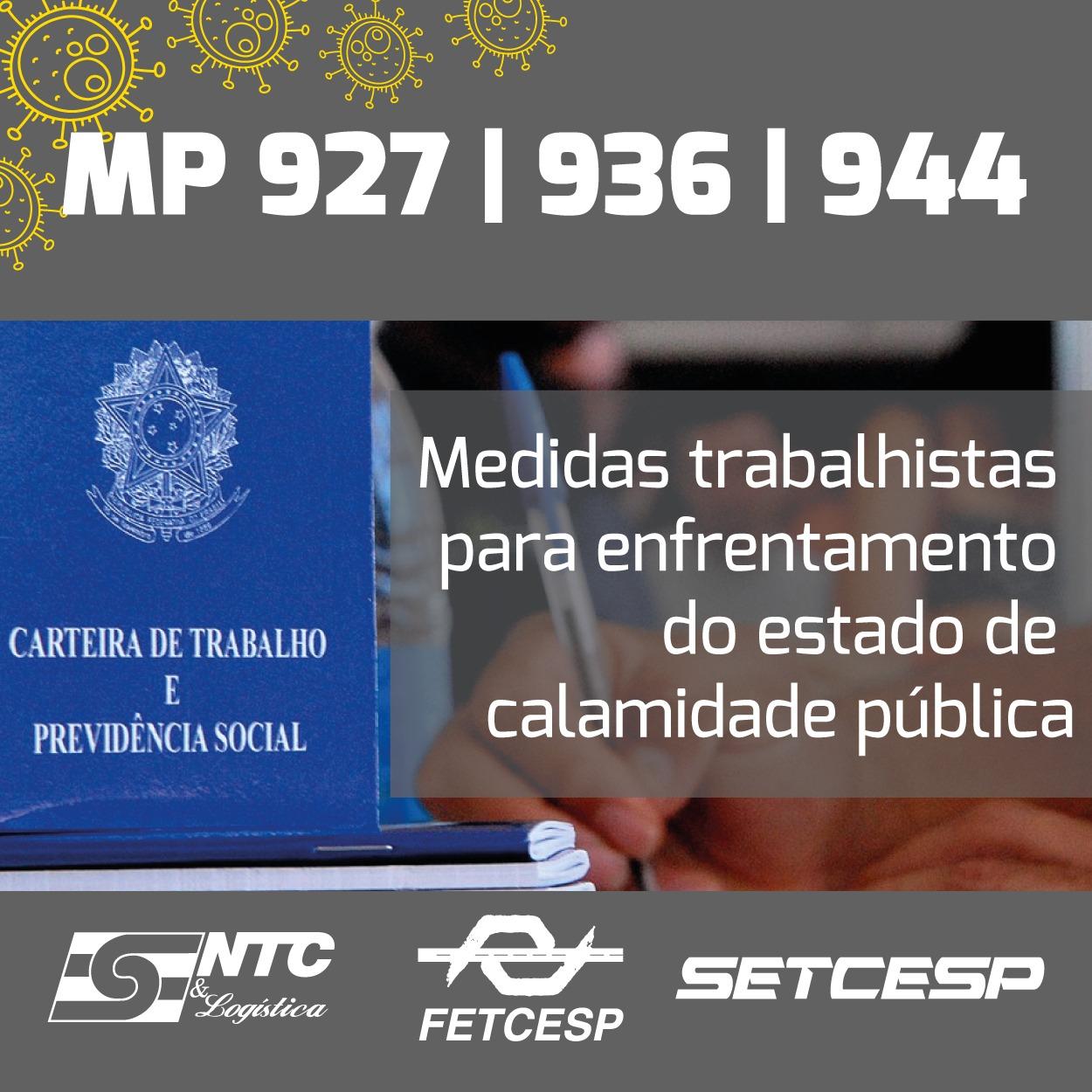 MP 927, 936 e 944: entenda os seus principais pontos