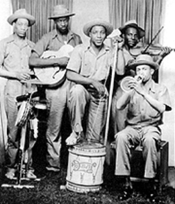 a turn-of-the-century jug band