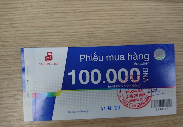 Đơn vị thu mua phiếu mua hàng Coopmart giá cao nhất tại Hà Nội