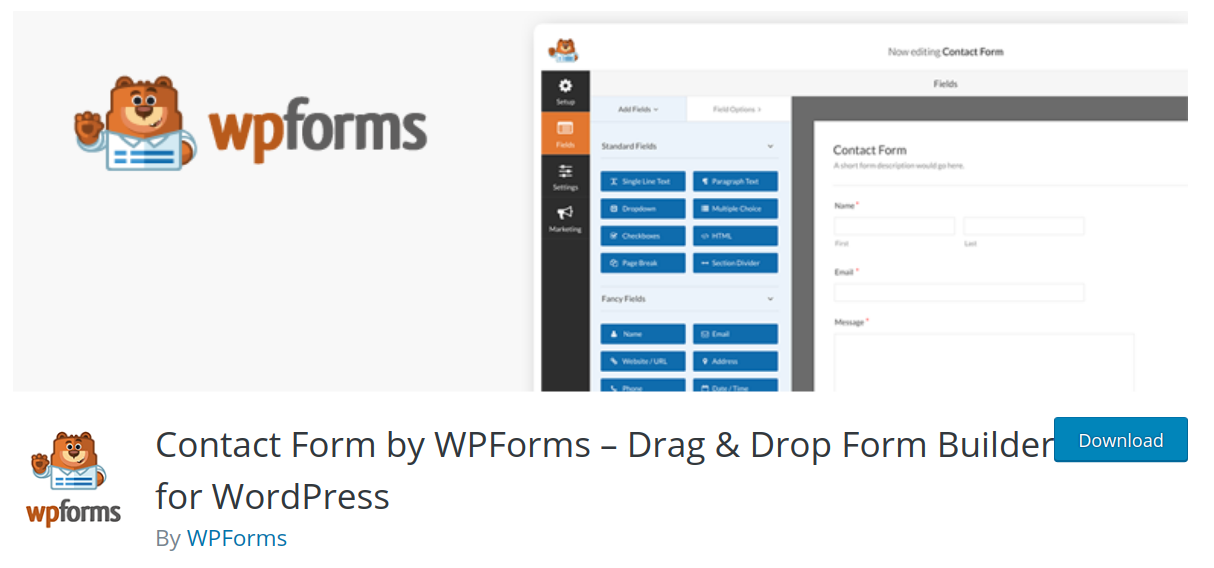 wpforms wordpress form plugin header