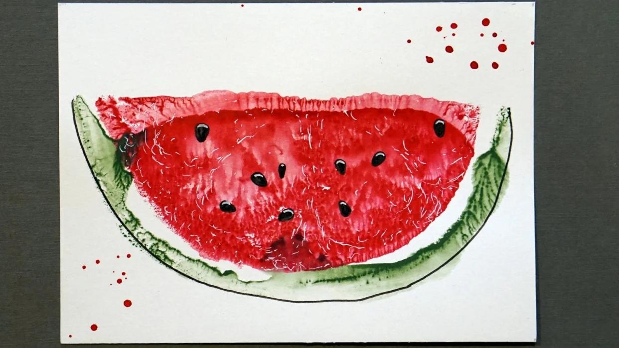watermelon ink print