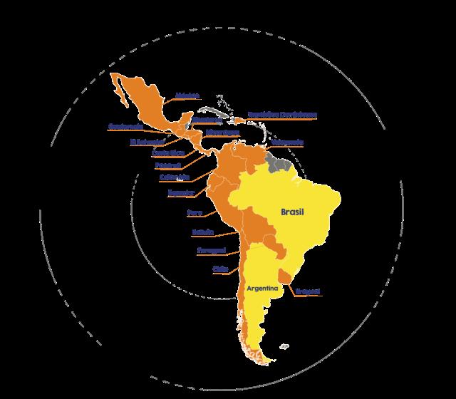 Mapa de presença do Mercado Livre