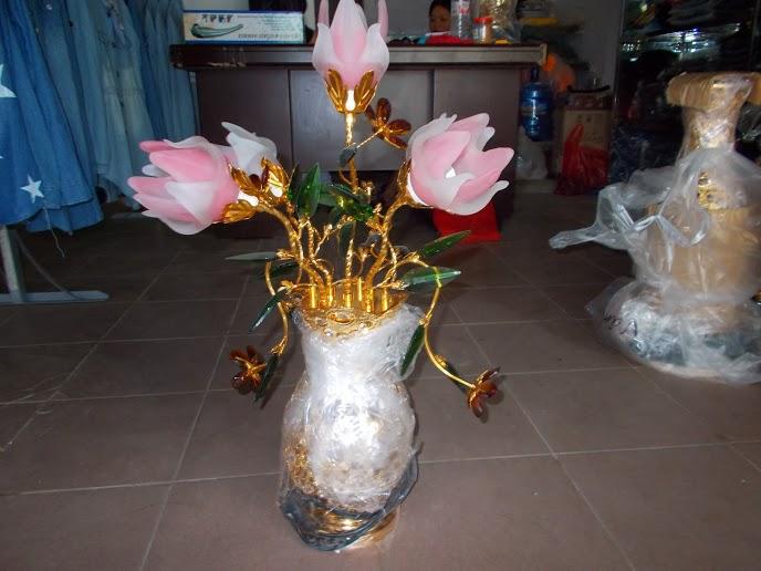 Mẫu đèn thờ hoa sen 5 bông