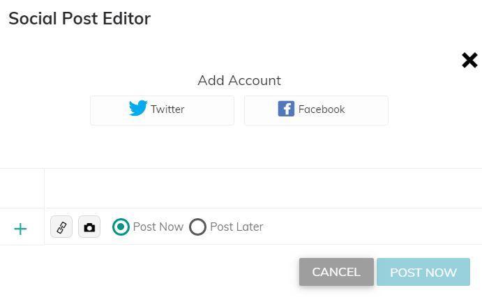 social post editor