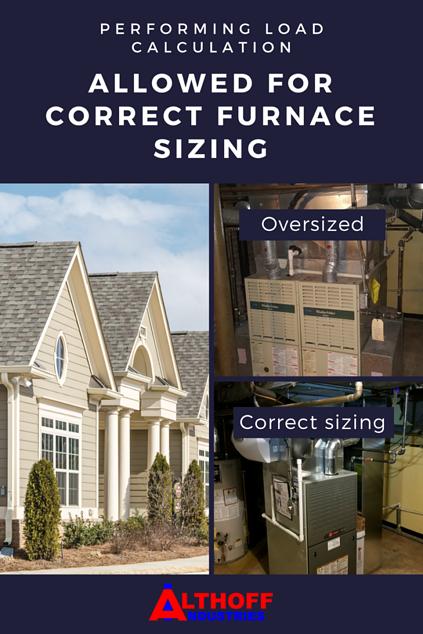 incorrect vs correct furnace sizing Chicago