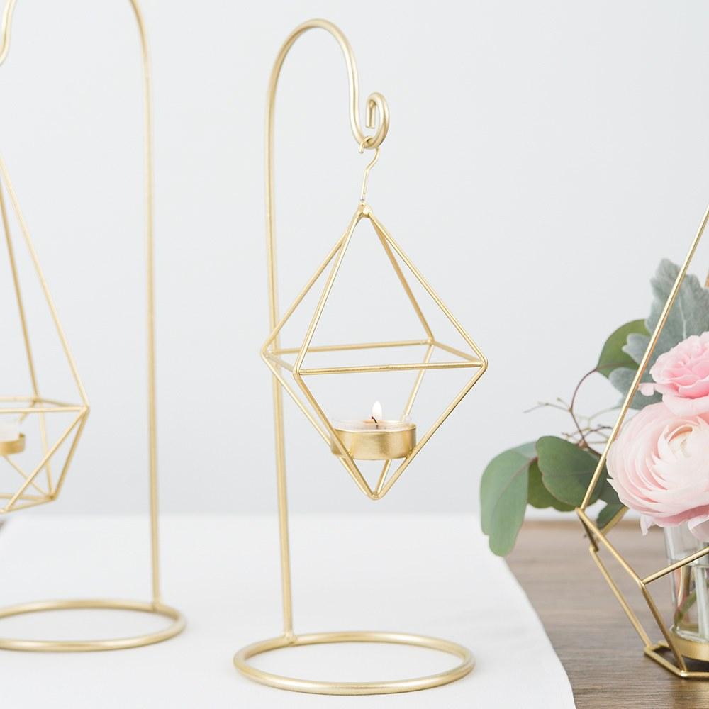 gold hanging tea light holder