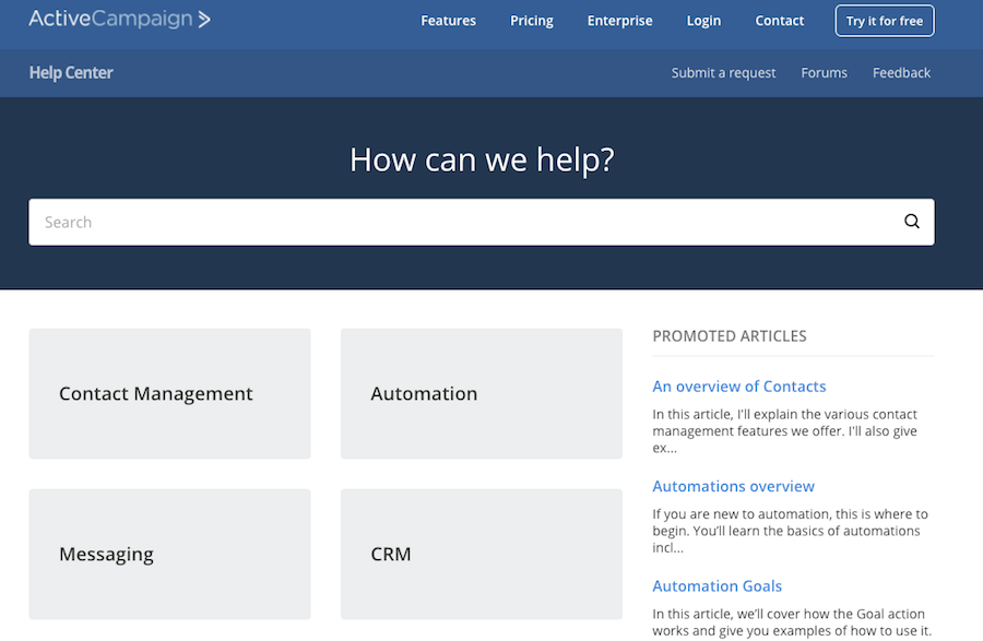 activecampaign knowledge base