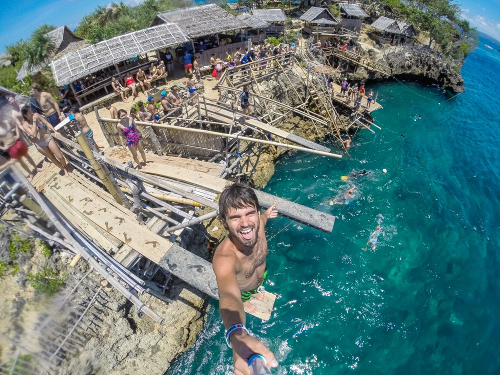 Cliff-Jumping at Magic Island - Boracay, Philippines