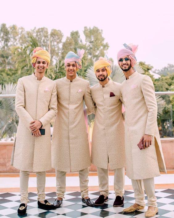 Traditional Muslim wedding attire for men