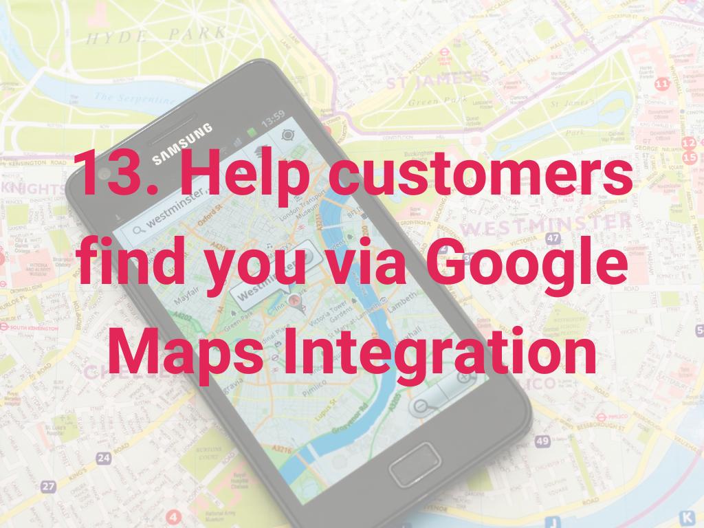 Help klanten om je te vinden met Google Maps integratie