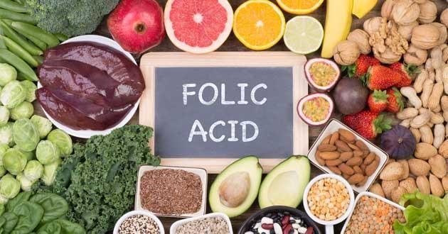 các loại thực phẩm có chứa axit folic