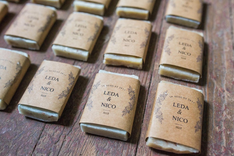 Wedding favour - personalised soap bars