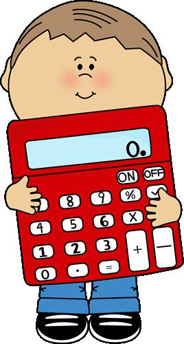 Image of child holding calculator