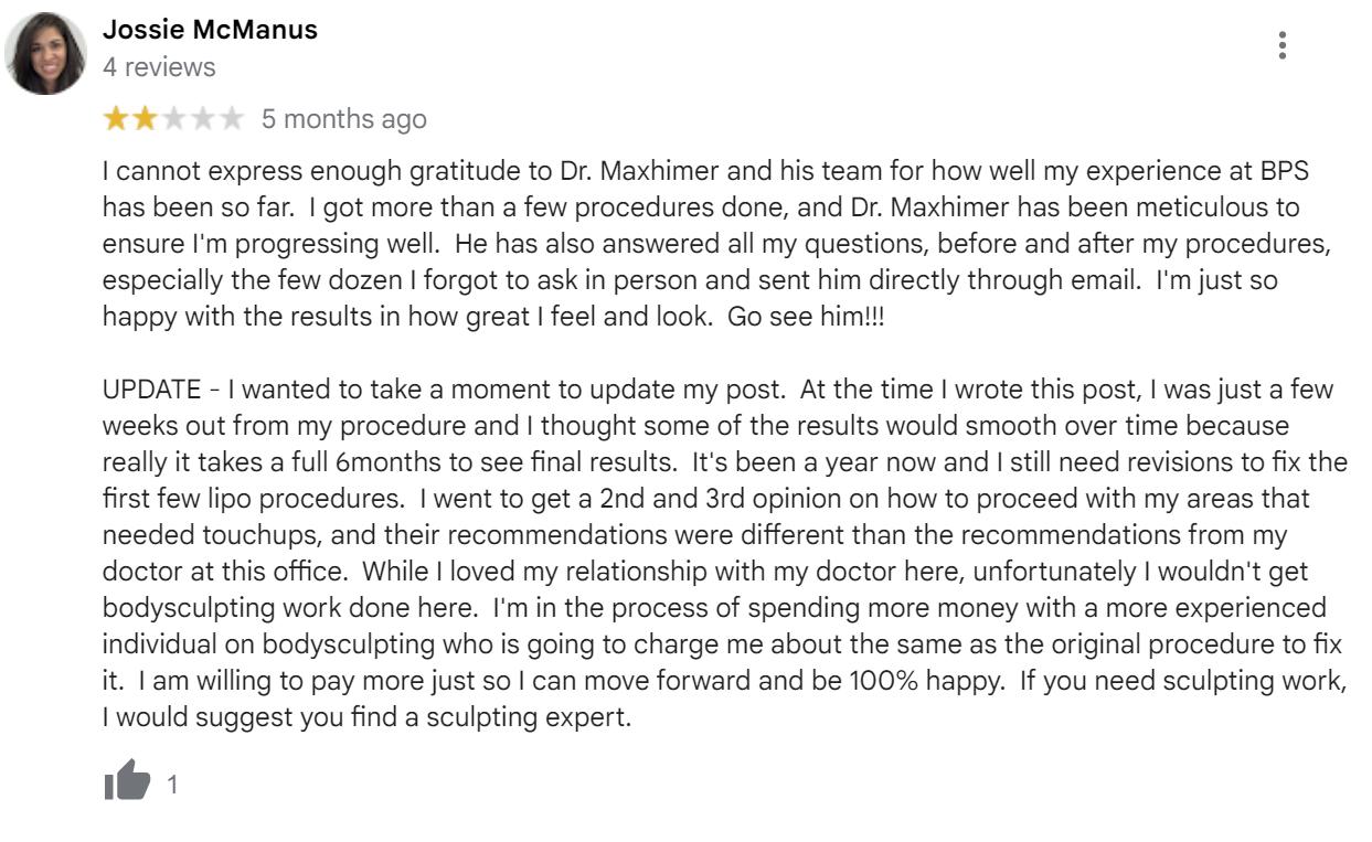Boulder Plastic Surgery review