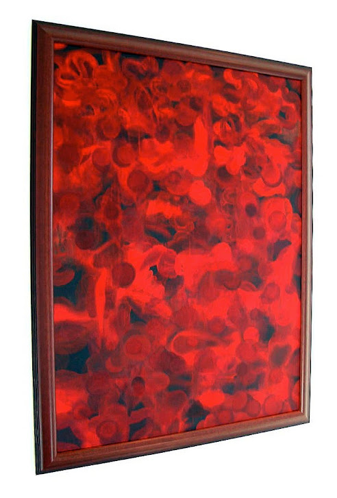 Victor Angelo Artist Kingdom 1999 Red Paintings Series Interior Design Showcase Modern Art Advisory Residential Contemporary Art Consultants Collection