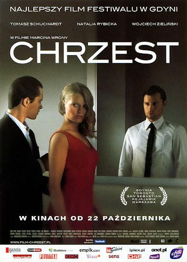 Przód ulotki filmu 'Chrzest'