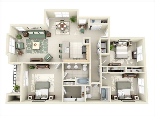 bản vẽ thiết kế nội thất chung cư