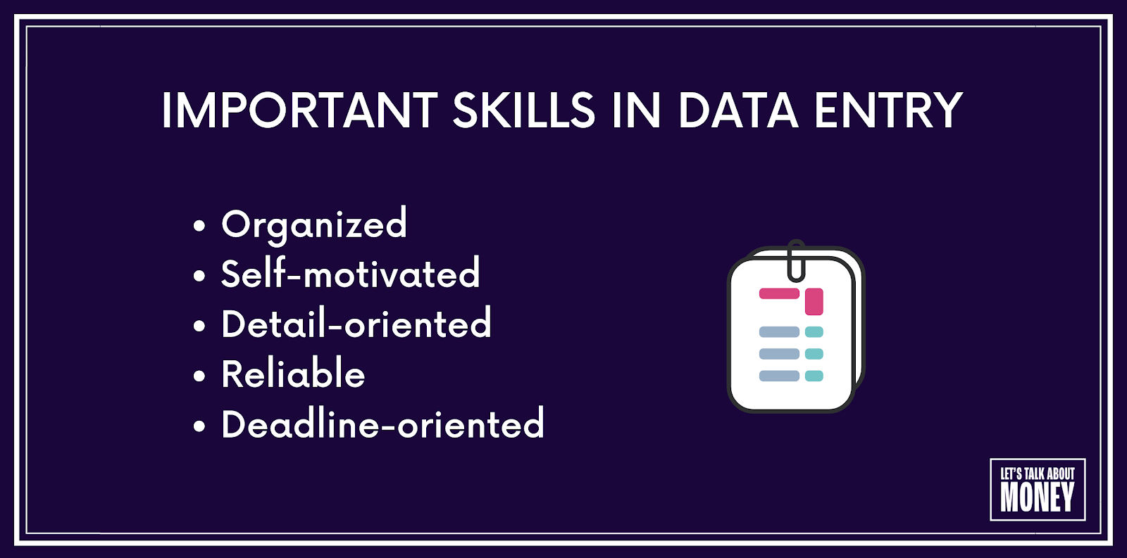 data entry job requirements and skills