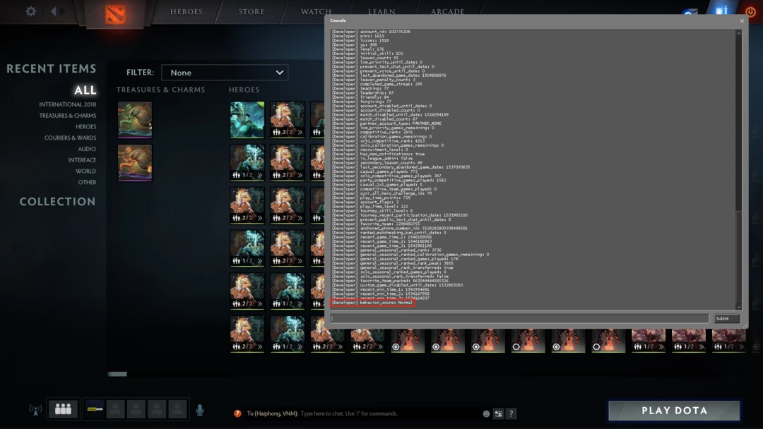 How to check your behavior score in Dota 2
