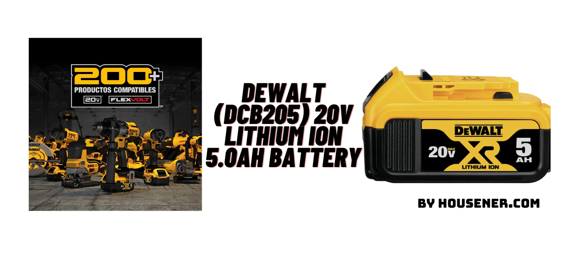 DEWALT (DCB205) 20V Lithium-Ion 5.0Ah Battery