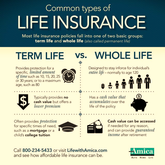 Common Types of Life Insurance Infographic | Whole life insurance, Life  insurance facts, Life insurance quotes
