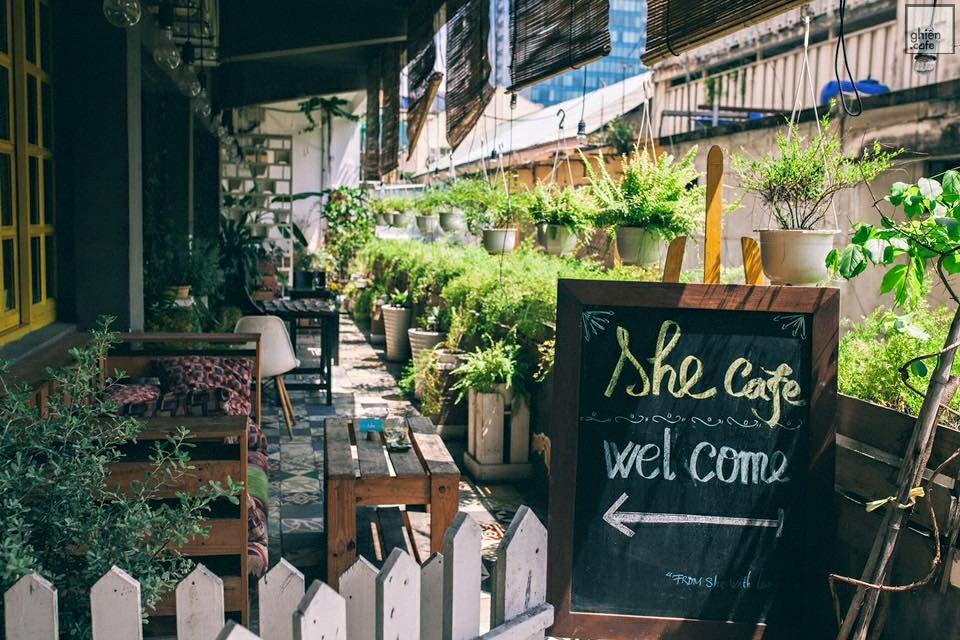 Sơn hiệu ứng Waldo-Không gian quán She Cafe