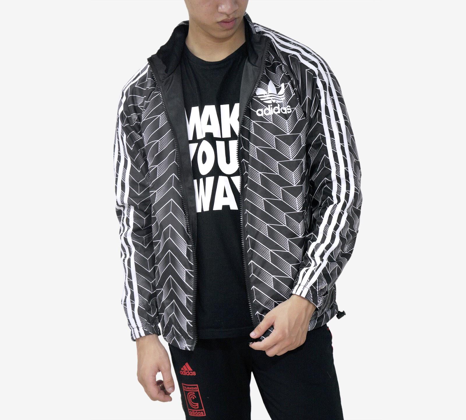 Áo khoác Adidas Black/White