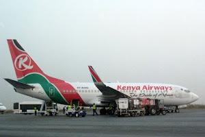 Plane at Nairobi Airport