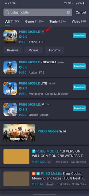 PUBG Korean version
