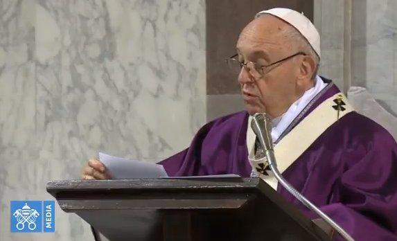 'Dừng lại, Ngắm xem và Trở về': Bài giảng của Đức Thánh Cha trong Lễ Tro tại Vương cung Thánh Đường Thánh Sabina All'Aventino