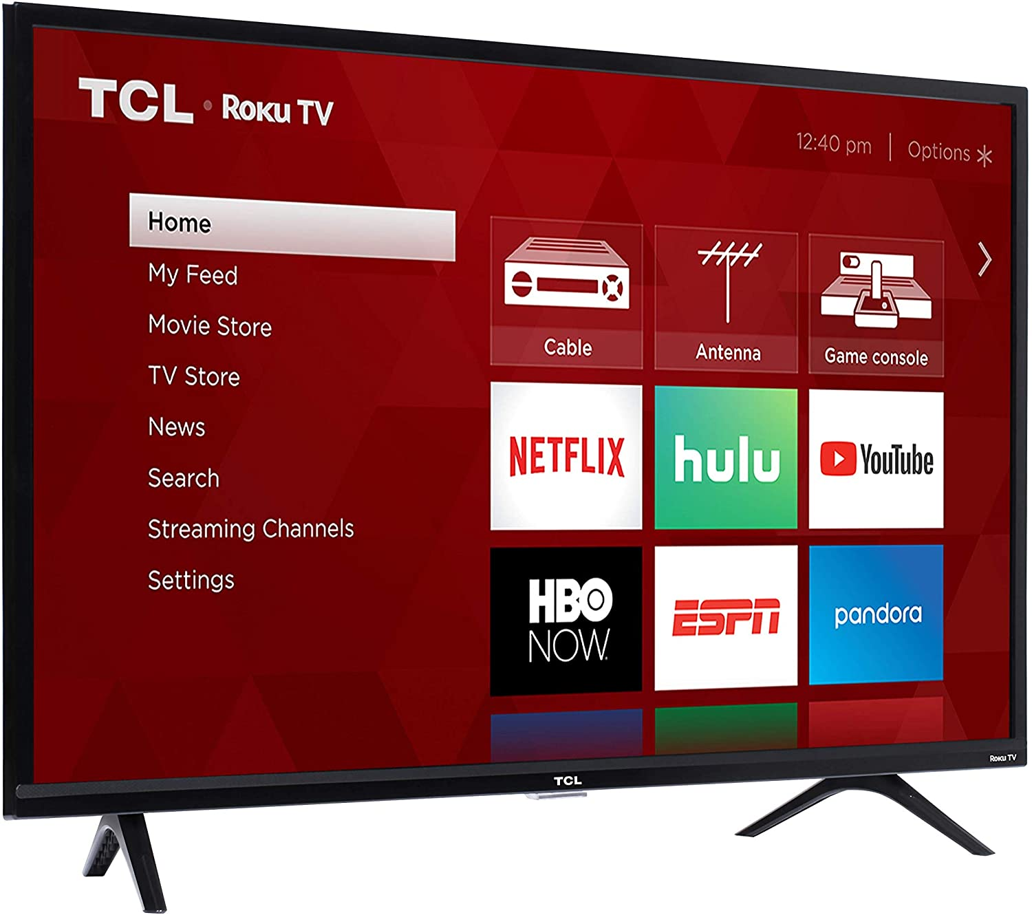 The TCL Roku Smart TV is a great alternative to a computer monitor.