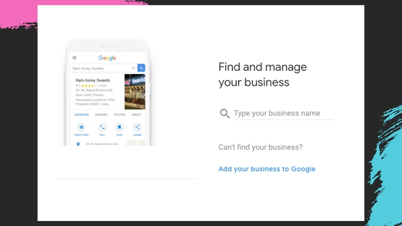 Add your business to google