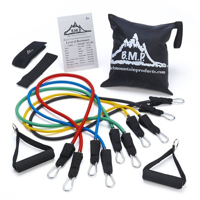 Black Mountain Products Resistance Band Set for those who need something light to start with and also suitable for people suffering from injuries or undergoing rehab