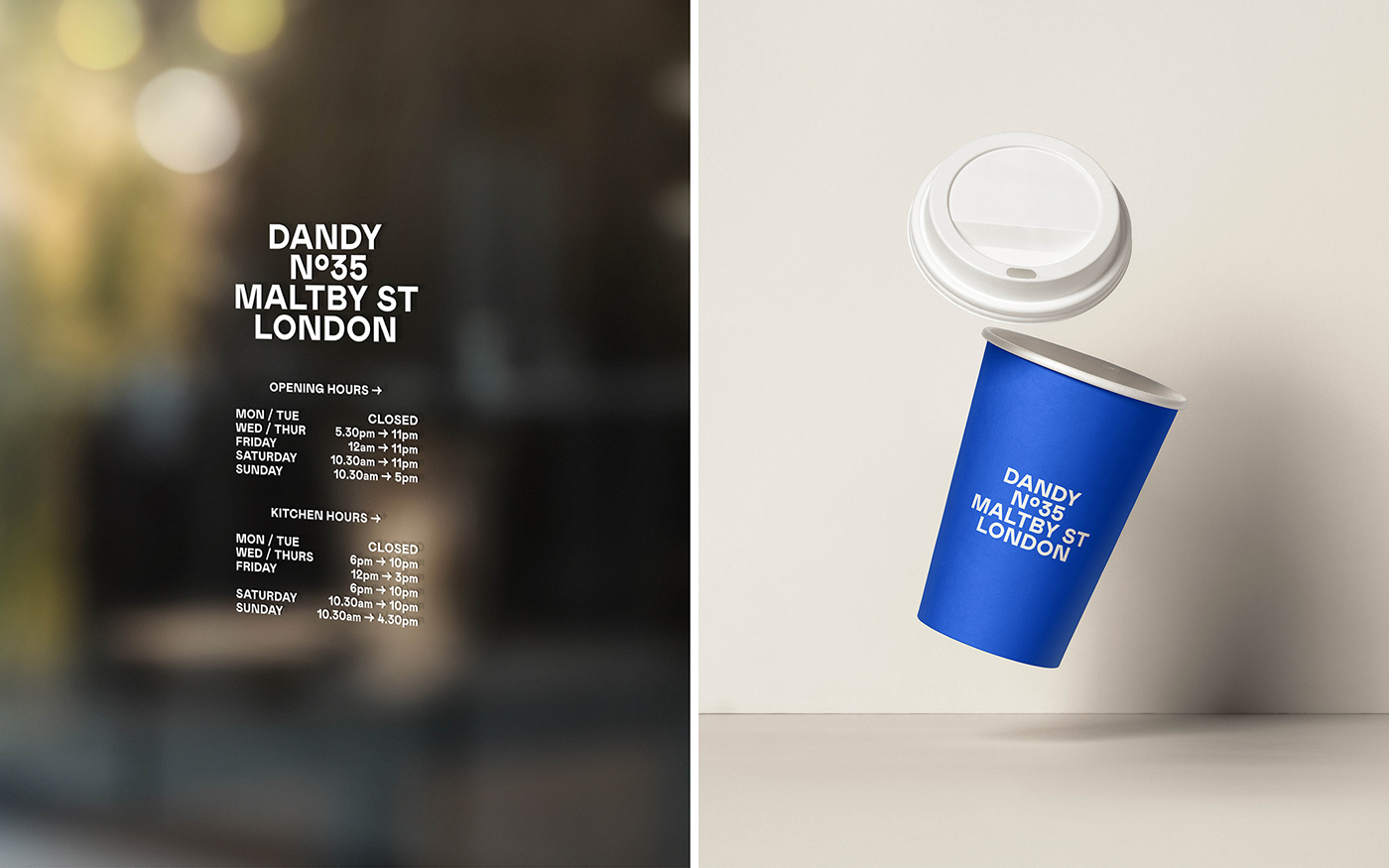 alcohol blue branding  F&B Food  food and beverage identity London Photography  restaurant