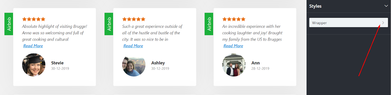 Airbnb reviews styles