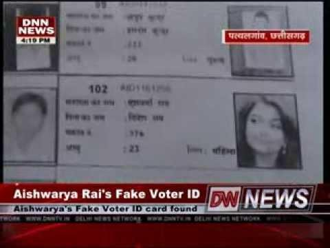 Celebrities Fake Voter ID