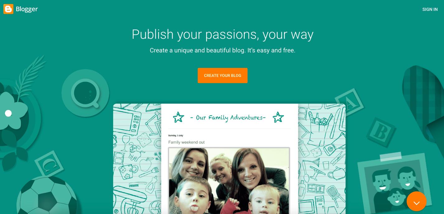 blogging platform blogger