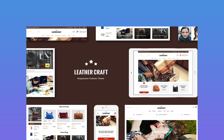 Shopify responsive themes Leather