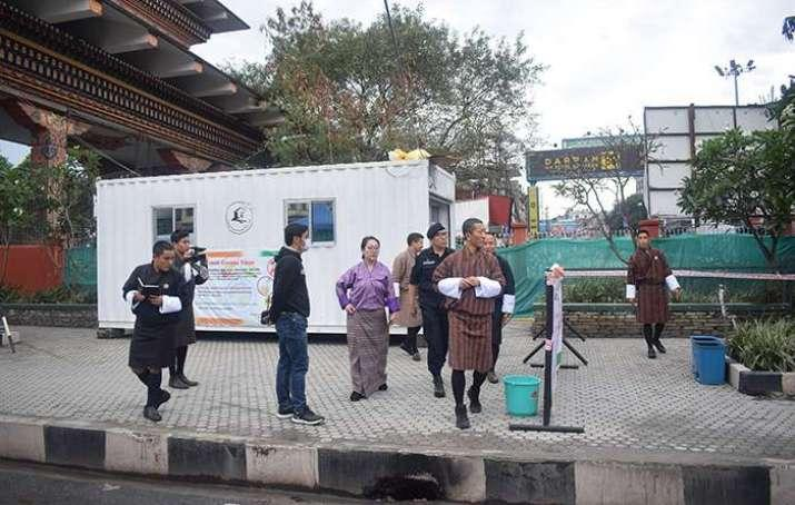 Prime Minister Dr. Lotay Tshering visits the main border gate in Phuentsholing on Sunday. From kuenselonline.com