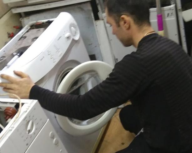 Демонтаж тена стиральной машины