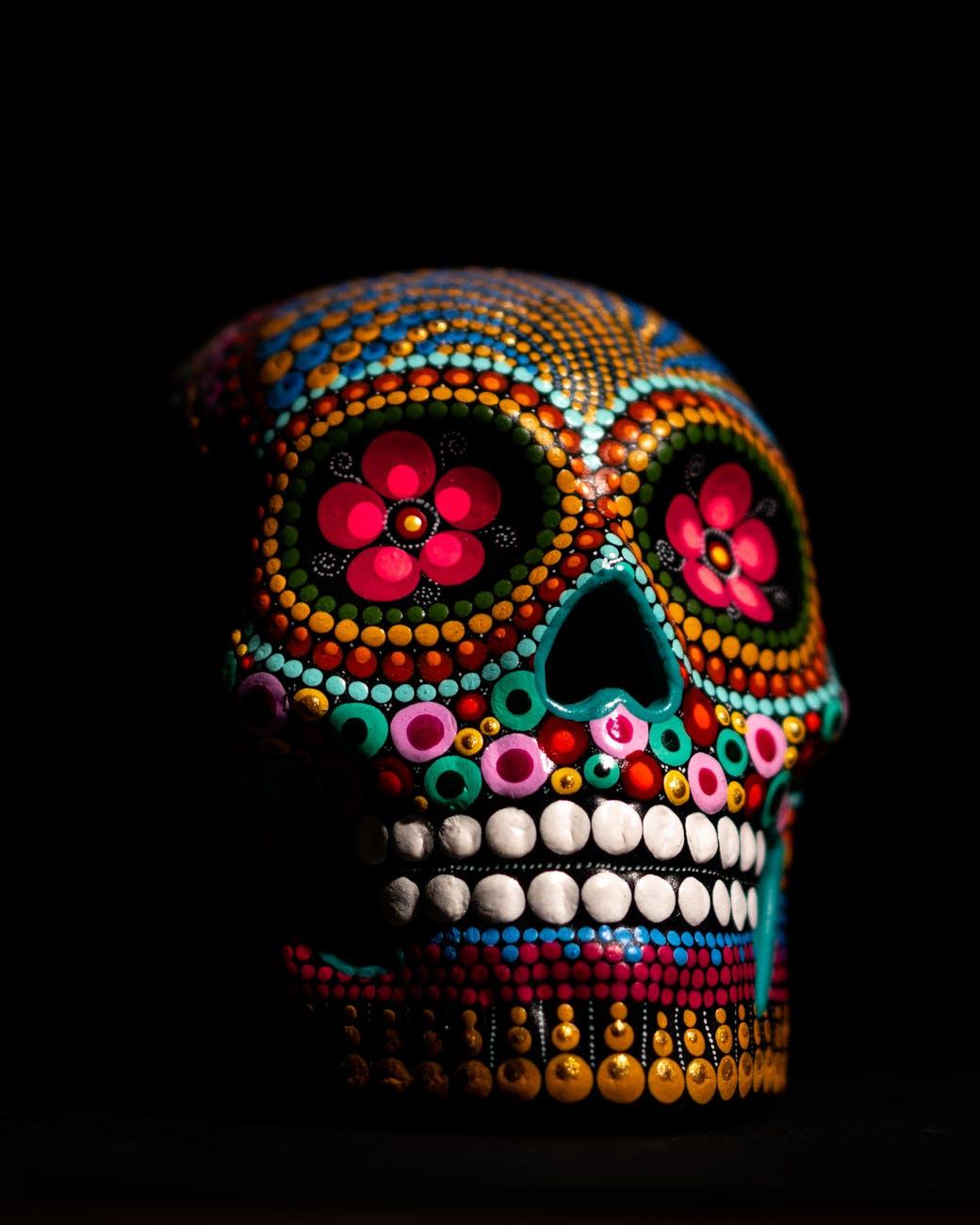 History of The Day of the Dead Sugar Skulls Calaveras, calaveritas. Dia De Los Muertos