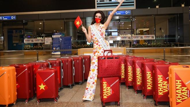 Hoa hậu Khánh Vân mang 15 vali sang Mỹ tham dự Miss Universe - Giải trí