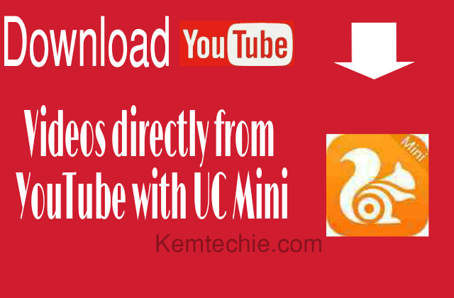 Download YouTube videos directly from UC Browser Mini