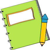 Green Notebook with a Pencil