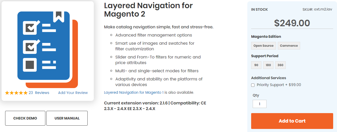 Layered Navigation for Magento 2 by Aheadworks