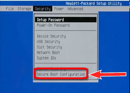 Reboot and Select Proper Boot Device,Secure Boot