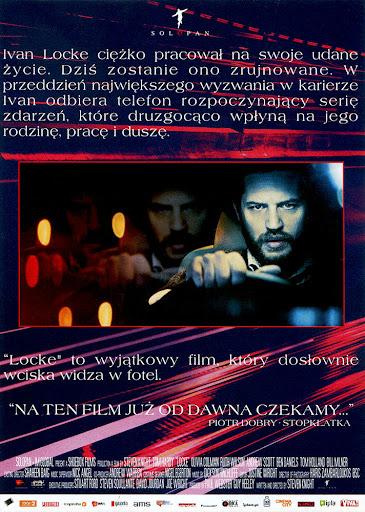 Tył ulotki filmu 'Locke'