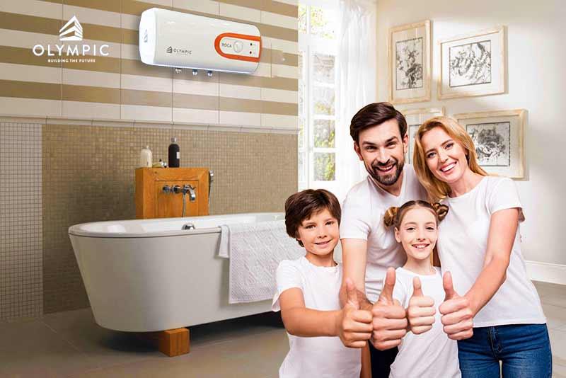Bình nóng lạnh Olympic đảm bảo bảo an toàn cho gia đình của bạn