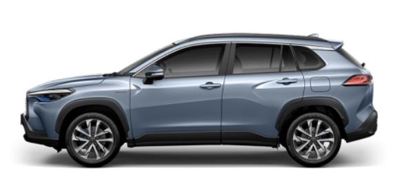 รถยนต์ Toyota Corolla Cross สีเทาฟ้า Celestile Gray Metallic